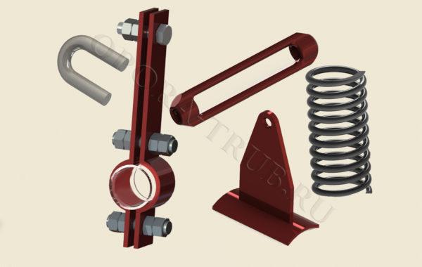 Узлы и детали подвесок трубопроводов