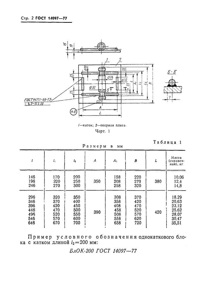 БлОК ГОСТ 14097-77