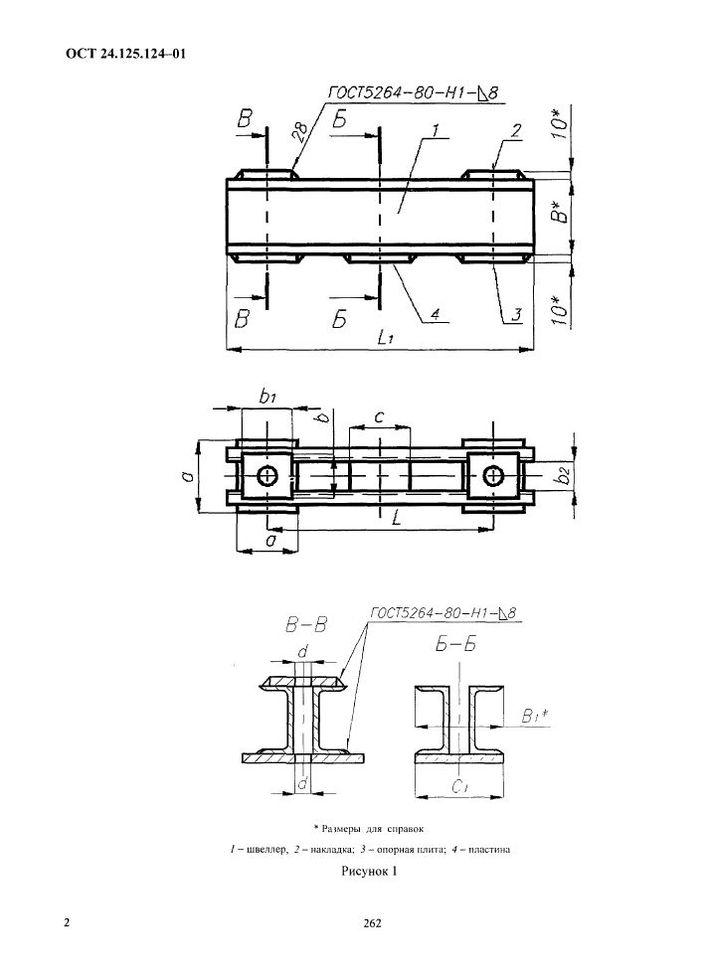 Балки опорные для пружин ОСТ 24.125.124-01 стр.2
