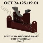 Корпус на опорной балке с проушинами рис.2 ОСТ 24.125.119-01