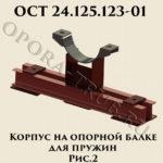 Корпус на опорной балке для пружин рис.2 ОСТ 24.125.123-01