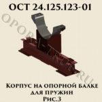 Корпус на опорной балке для пружин рис.3 ОСТ 24.125.123-01