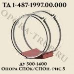 Опора СПОк/СПОн Ду 500-1400 рис.5 ТД 1-487-1997.03.000