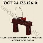 Подвеска пружинная приварная на опорной балке ОСТ 24.125.126-01