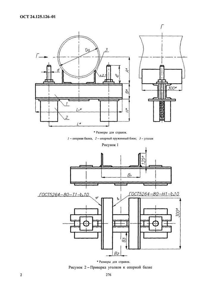 Подвески пружинные приварные на опорной балке ОСТ 24.125.126-01 стр.2