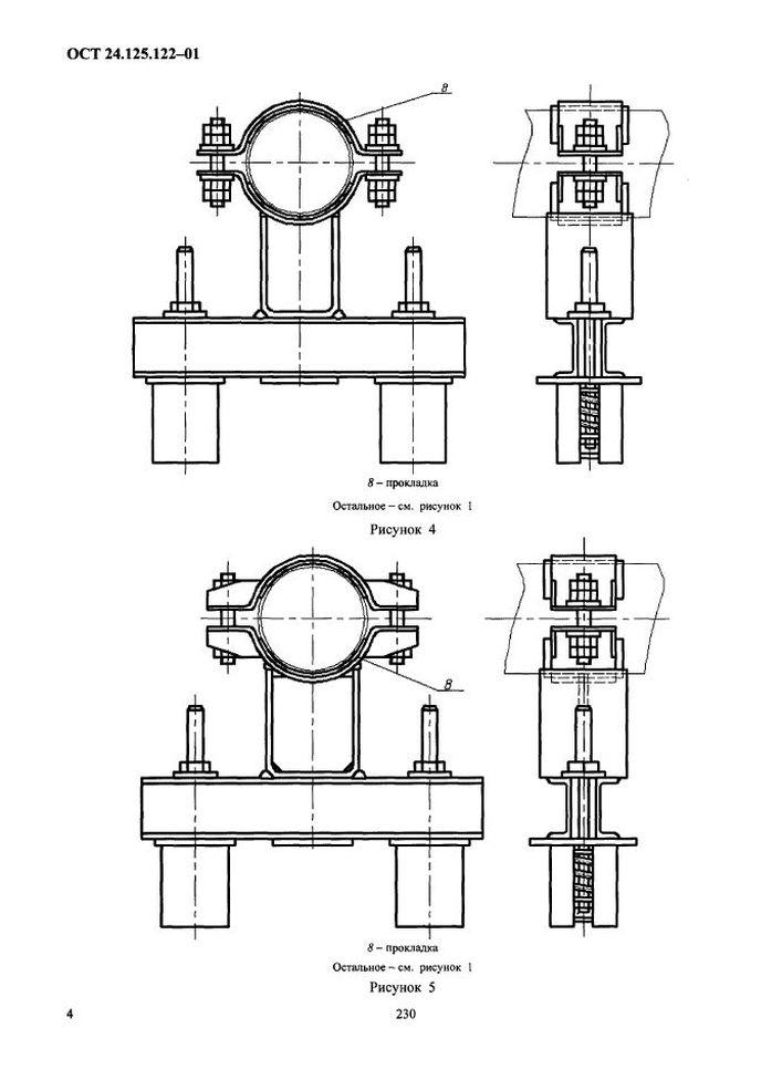Подвески пружинные хомутовые на опорной балке ОСТ 24.125.122-01 стр.4