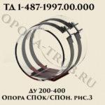 Опора СПОк/СПОн Ду 200-400 рис.3 ТД 1-487-1997.02.000