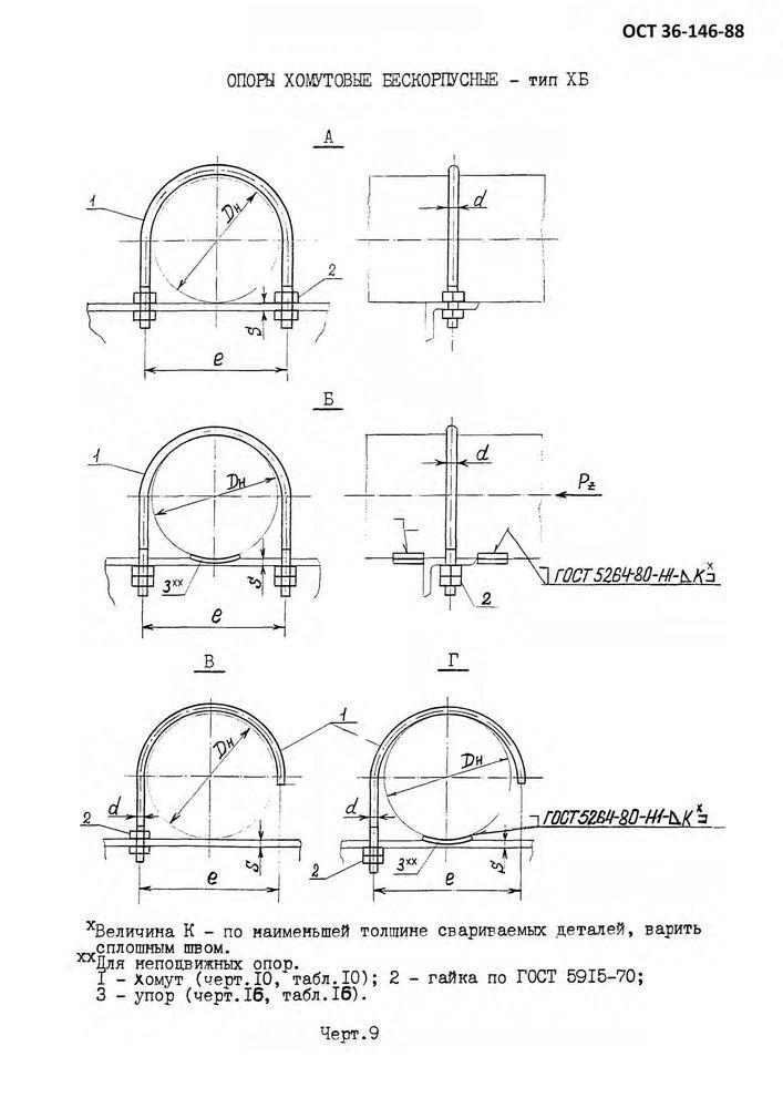 Опоры ХБ ОСТ 36-146-88 стр.2