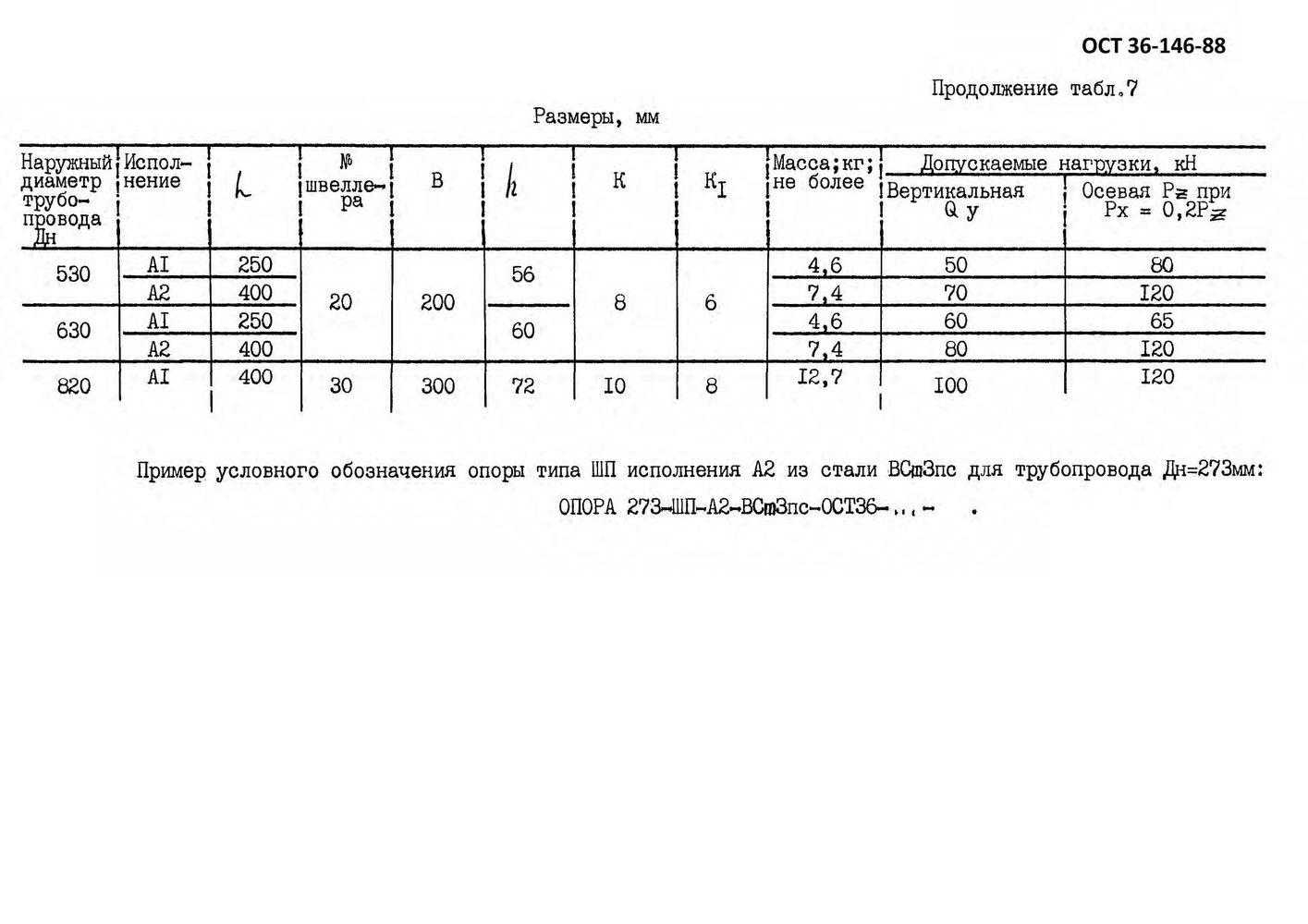 Опоры ШП ОСТ 36-146-88 стр.4