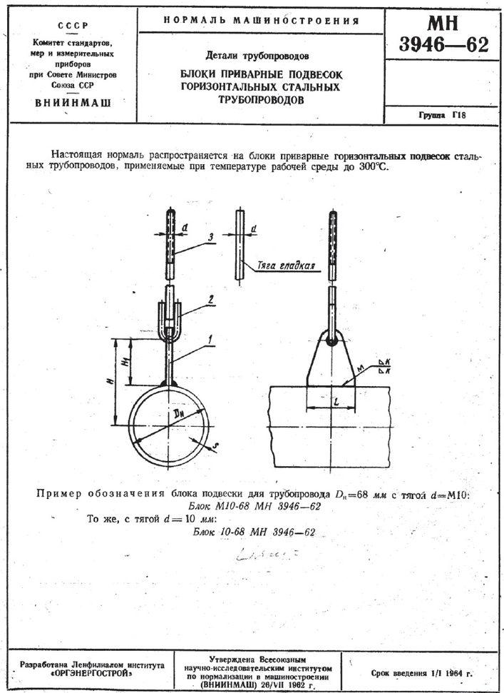 Блоки приварные МН 3946-62