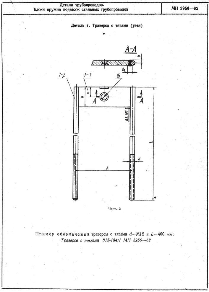 Блок пружин подвесок трубопроводов МН 3956-62 стр.2