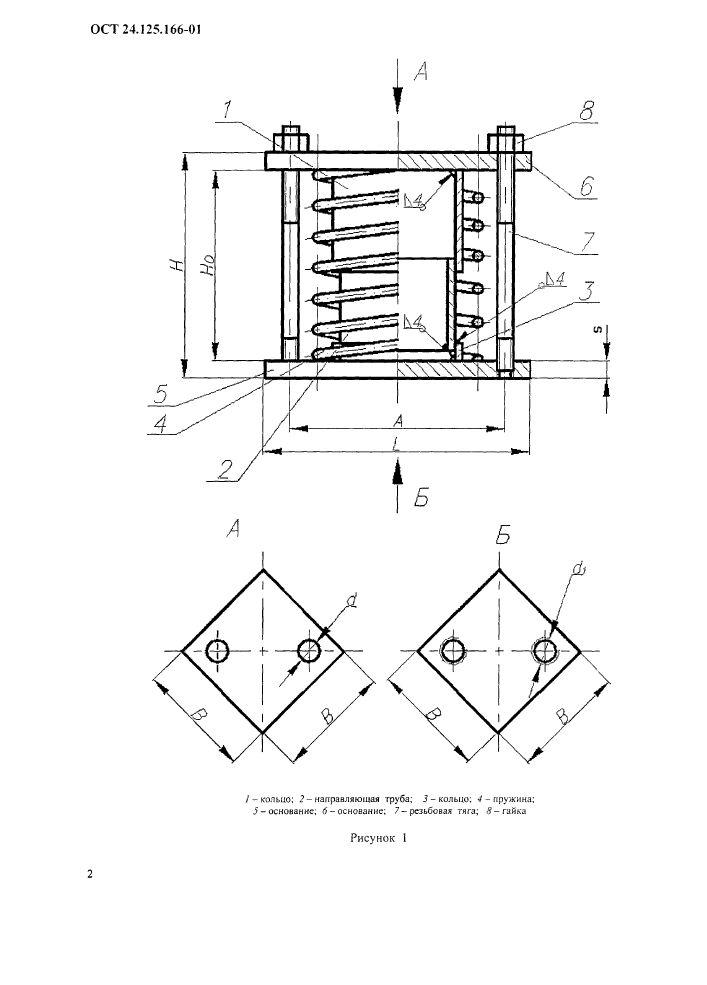 Блоки пружинные ОСТ 24.125.166-01 стр.2