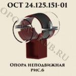 Опора неподвижная рис.6 ОСТ 24.125.151-01