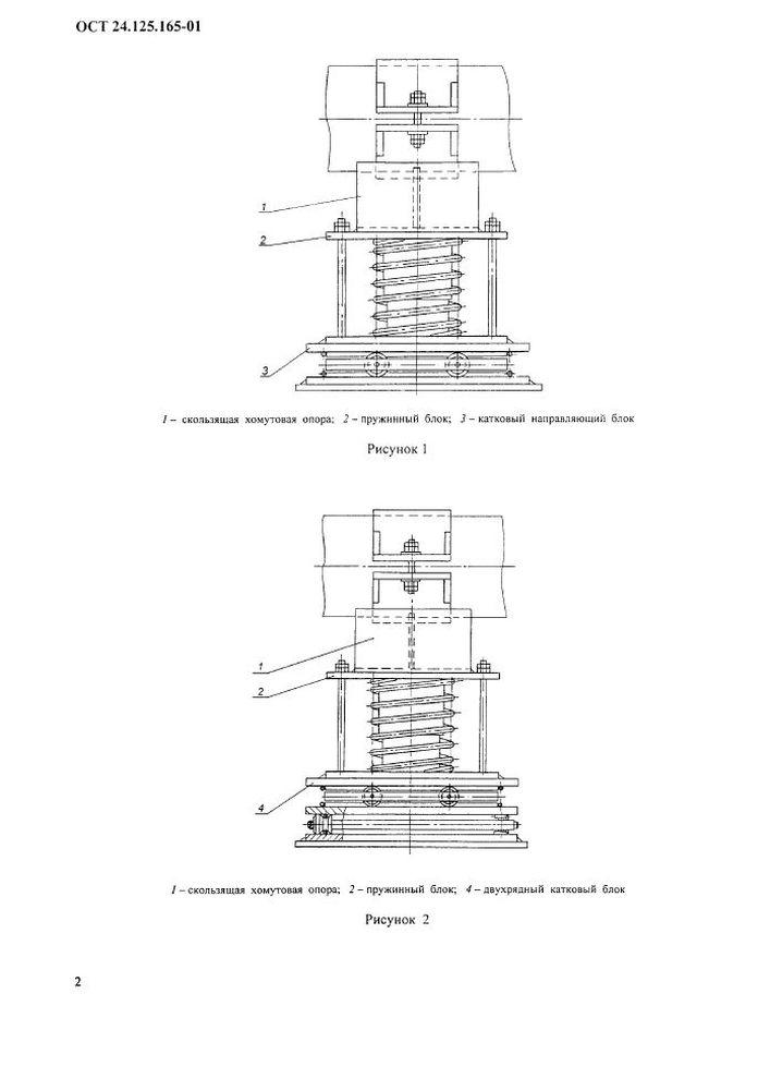 Опоры катковые пружинные ОСТ 24.125.165-01 стр.2