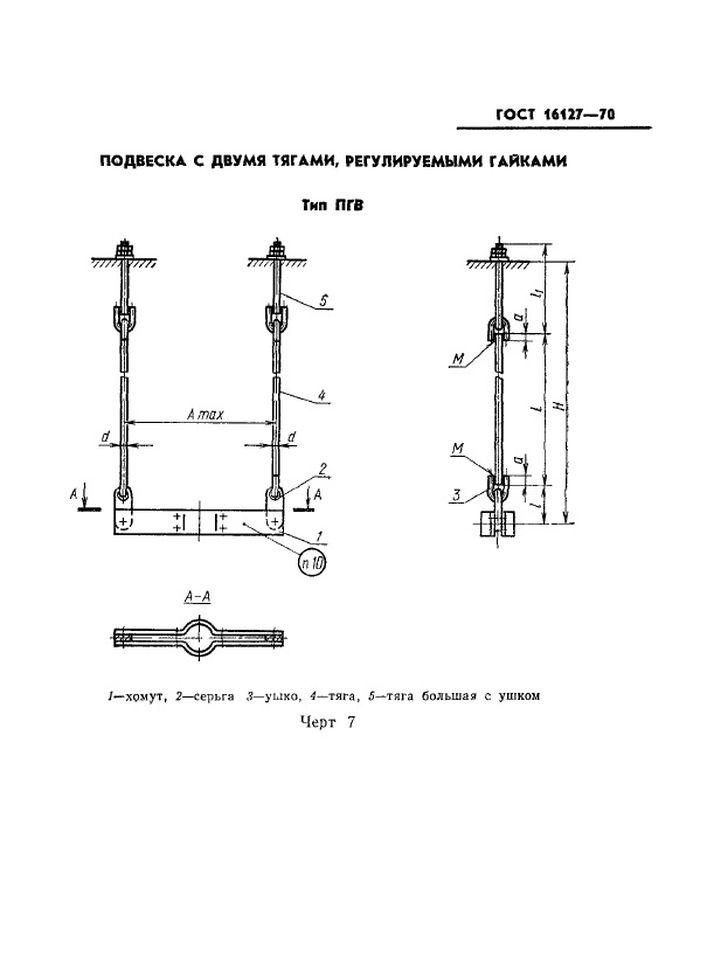 Подвеска ПГВ ГОСТ 16127-70 стр.1