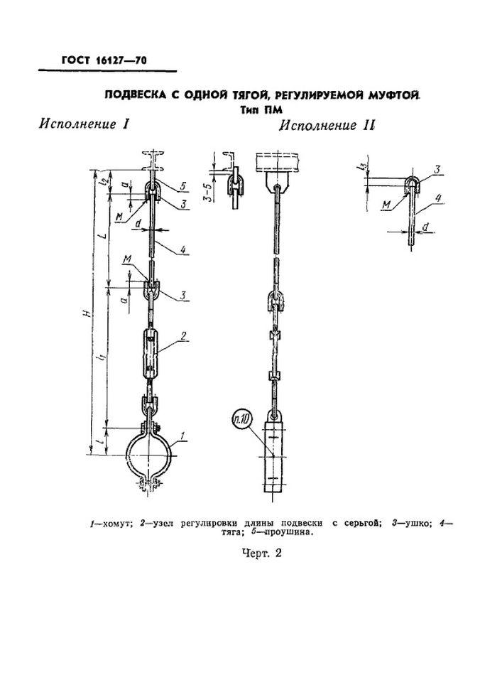 Подвеска ПМ ГОСТ 16127-70 стр.1