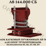 Блок катковый пружинный исп.05,06,07,08,09 Л8-144.000