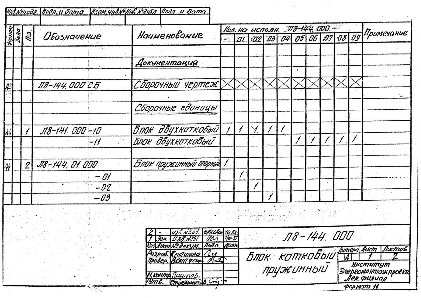 Блок катковый пружинный Л8-144.000 стр.3