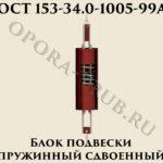 Блок подвески пружинный сдвоенный ОСТ 153-34-1005-99А