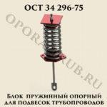 Блок пружинный опорный ОСТ 34 296-75
