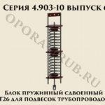 Блок пружинный сдвоенный Т26.00.00.000 серия 4.903-10 выпуск 6