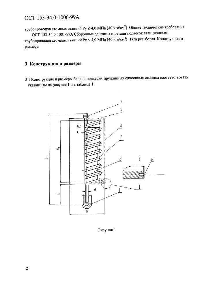 Блоки подвесок пружинные опорные ОСТ 153-34.0-1006-99А стр.2