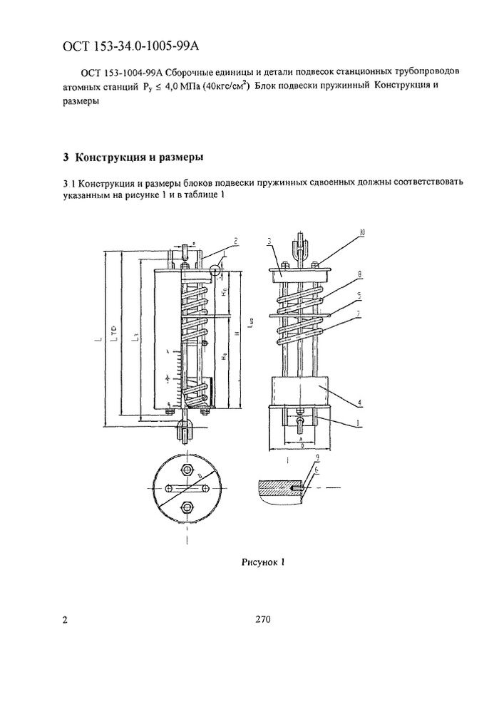 Блоки подвесок пружинные сдвоенные ОСТ 153-34.0-1005-99А стр.2