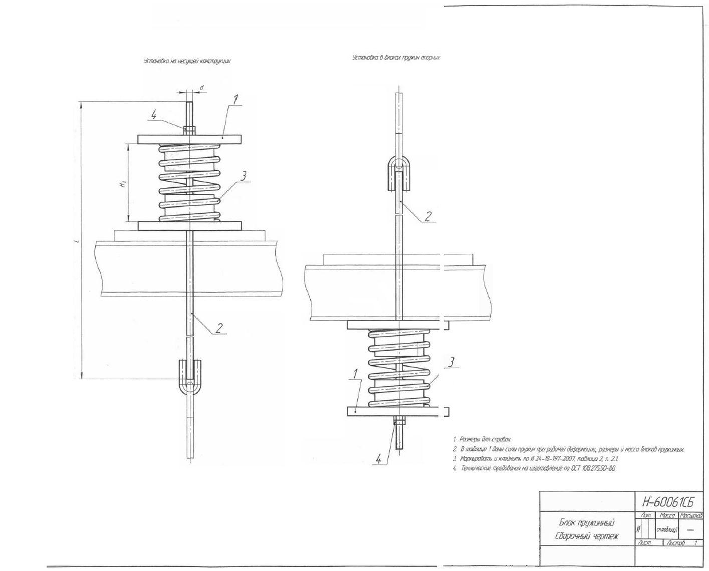 Блоки пружинные Н-60061