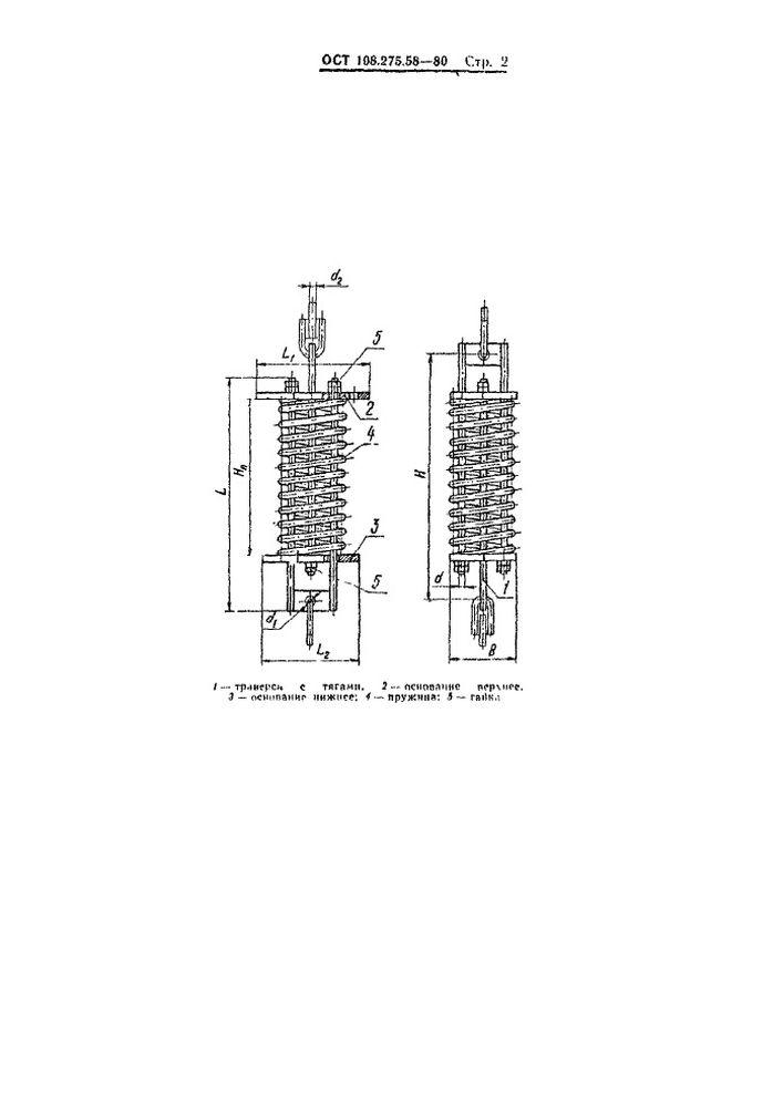 Блоки пружинные ОСТ 108.275.58-80 стр.2