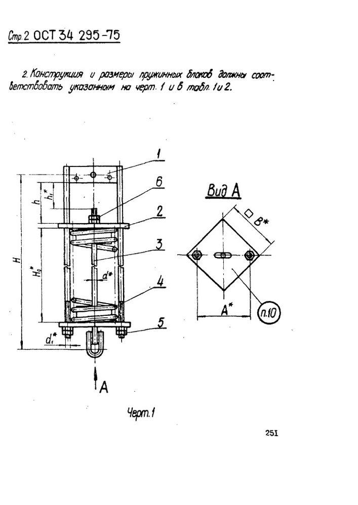 Блоки пружинные ОСТ 34 295-75 стр.2