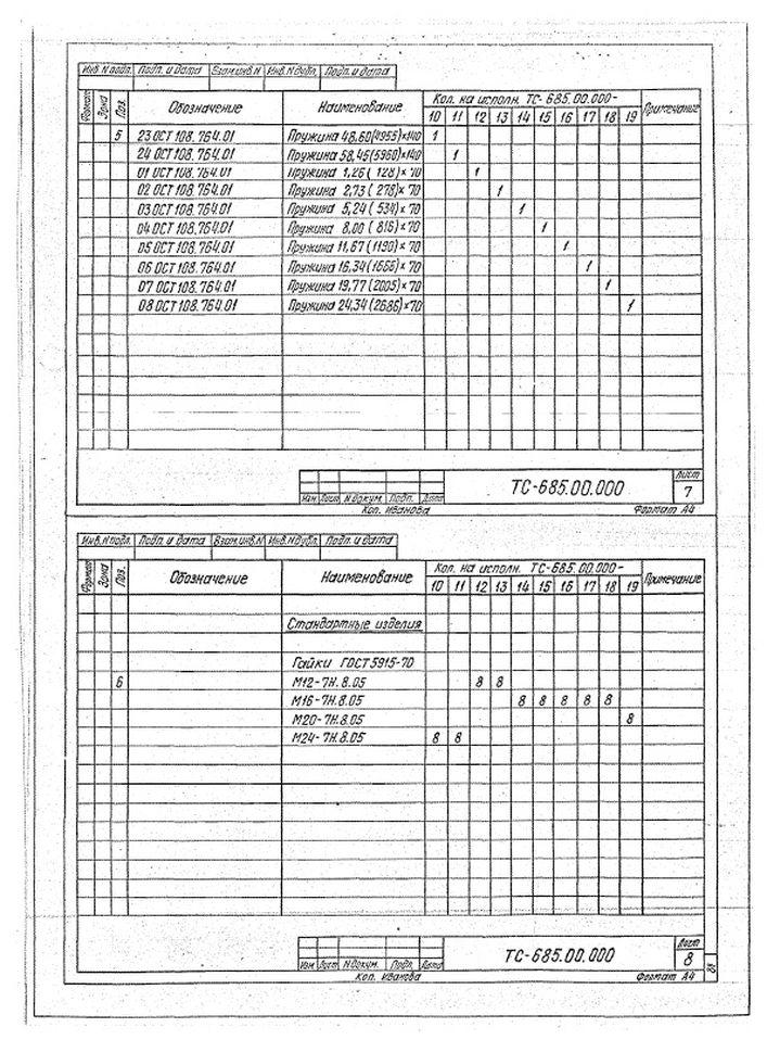 Блоки пружинные ТС-685.00.000 стр.6