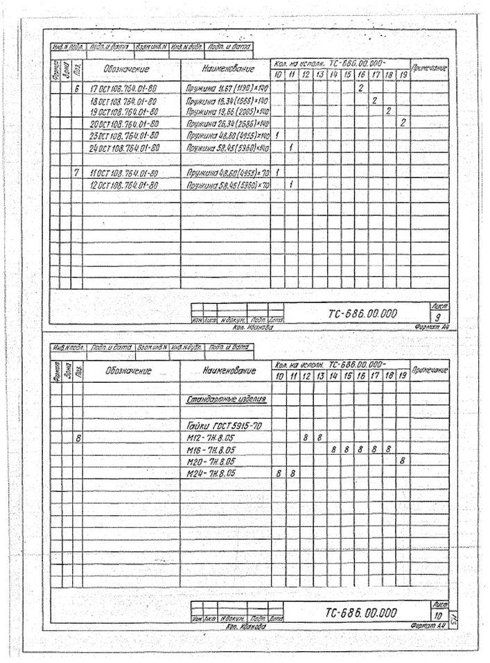 Блоки пружинные ТС-686.00.000 стр.7