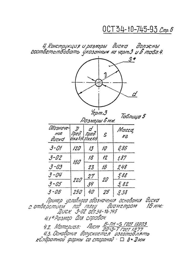 Блоки пружинные опорные ОСТ 34-10-745-93 стр.6