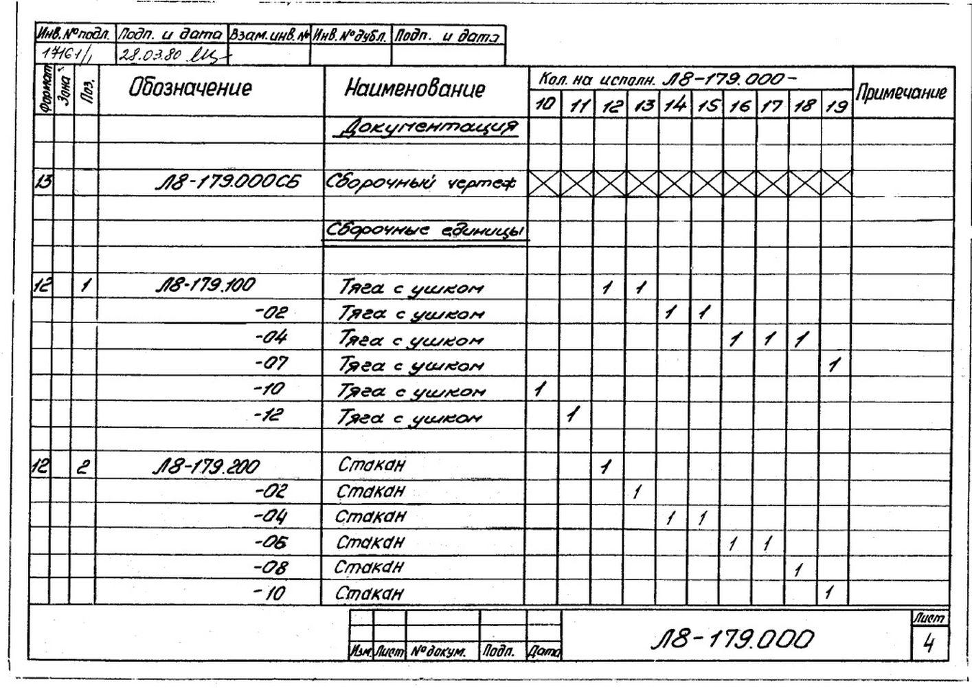 Блоки пружинные опорные Л8-179.000 стр.5