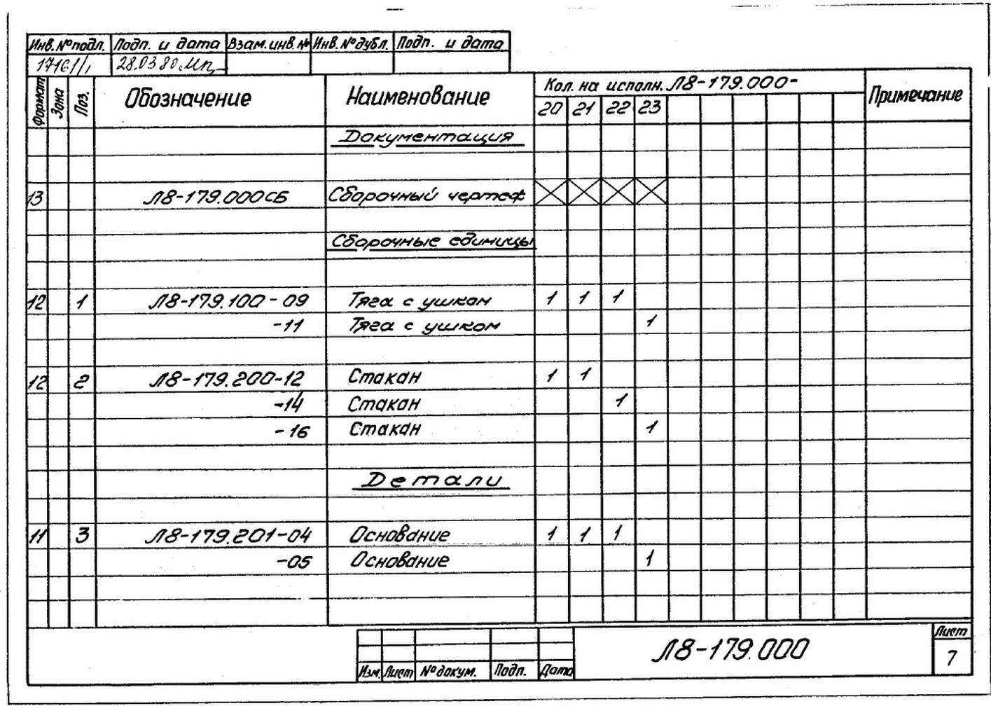 Блоки пружинные опорные Л8-179.000 стр.8