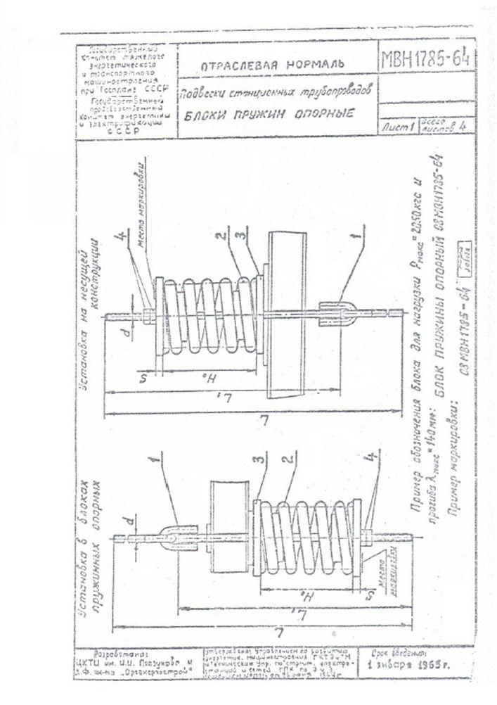 Блоки пружинные опорные МВН 1785-64