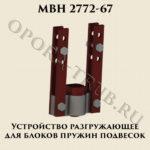 Устройство для газгрузки блоков пружин подвесок МВН 2772-67