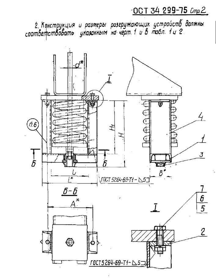 Устройство разгружающее ОСТ 34 299-75 стр.2