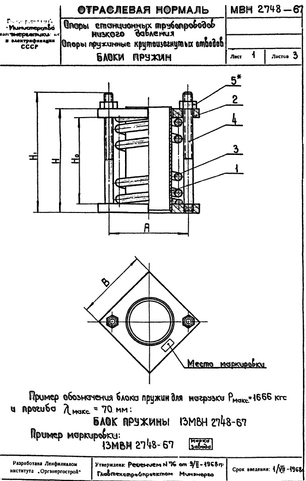 Блоки пружин МВН 2748-67