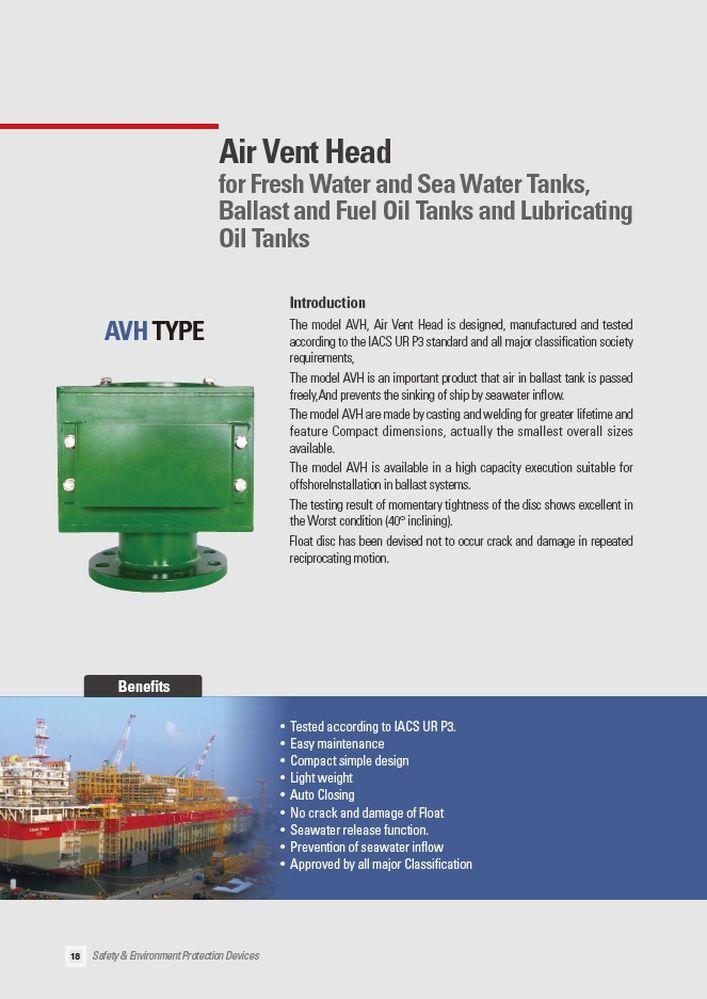 Вертикальные клапаны AHV PROSAVE стр.1