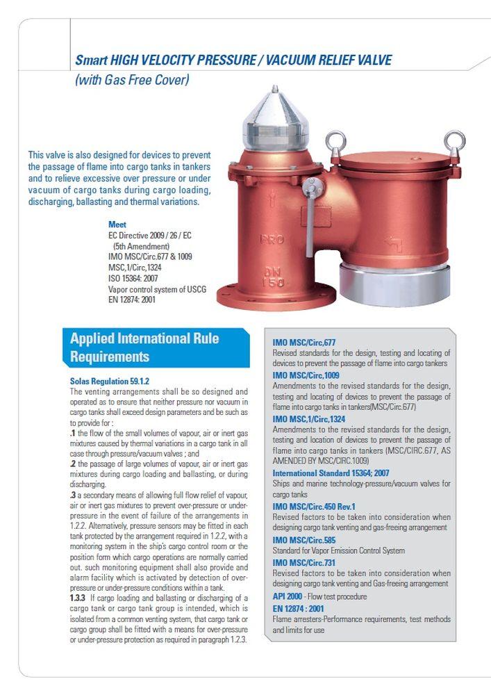 Высокоскоростные клапаны сброса давления вакуума SMART-HV PROSAVE стр.2