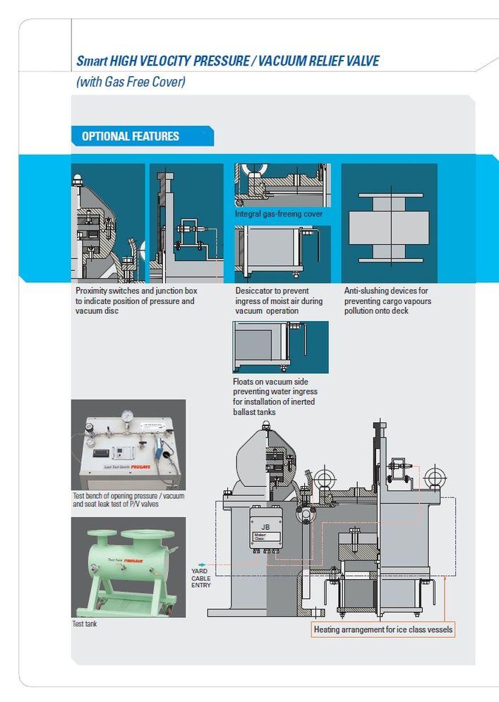 Высокоскоростные клапаны сброса давления вакуума SMART-HV PROSAVE стр.6