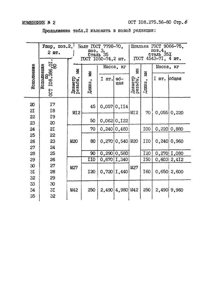 Блоки хомутовые для подвесок вертикальных трубопроводов ОСТ 108.275.56-80 стр.13