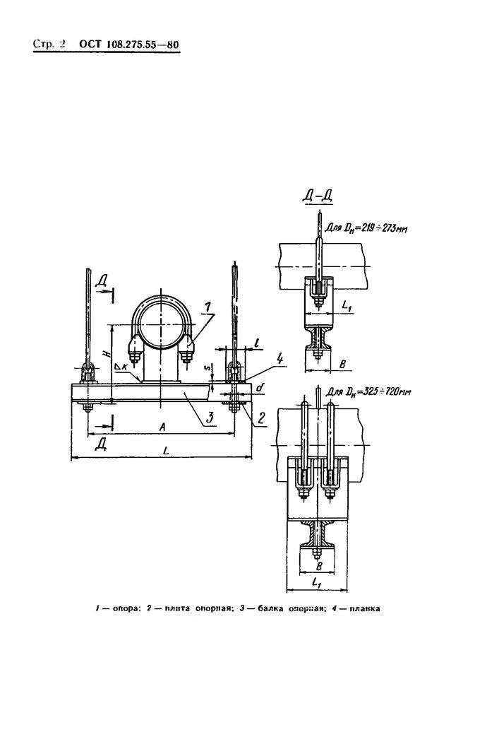 Блоки хомутовые с опорной балкой ОСТ 108.275.55-80 стр.2