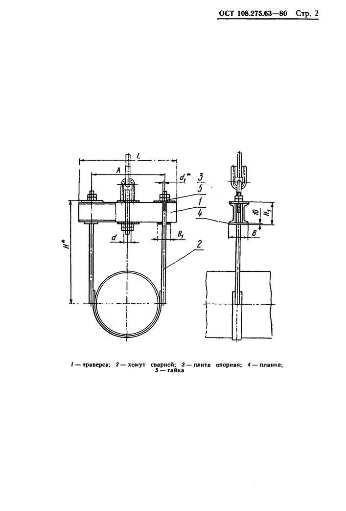 Блоки хомутовые с траверсой ОСТ 108.275.63-80 стр.2