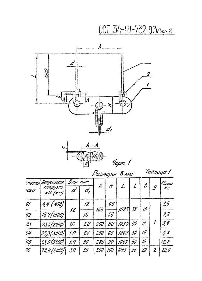 Блоки подвесок с траверсой ОСТ 34-10-732-93 стр.2