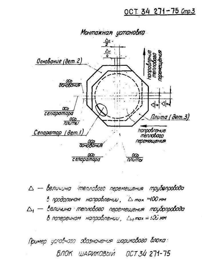 Блоки шариковые для пружинных опор ОСТ 34 271-75 стр.3