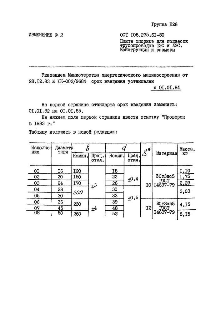 Плиты опорные ОСТ 108.275.61-80 стр.3