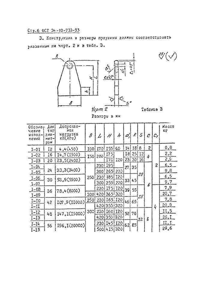 Проушины ОСТ 34-10-733-93 стр.1