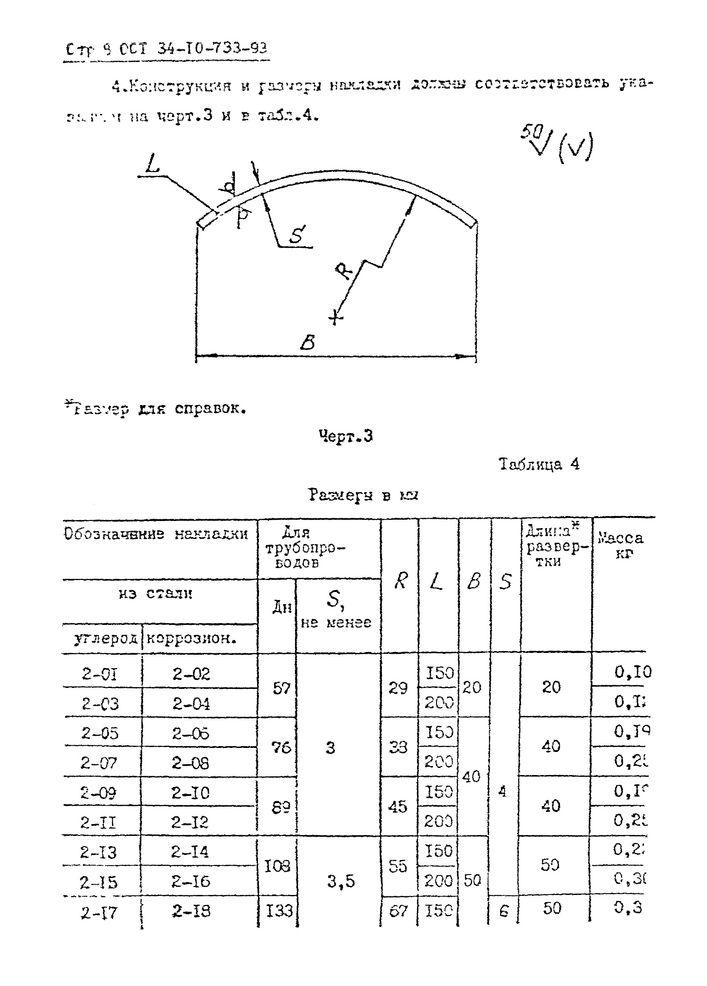 Проушины с накладкой ОСТ 34-10-733-93 стр.8